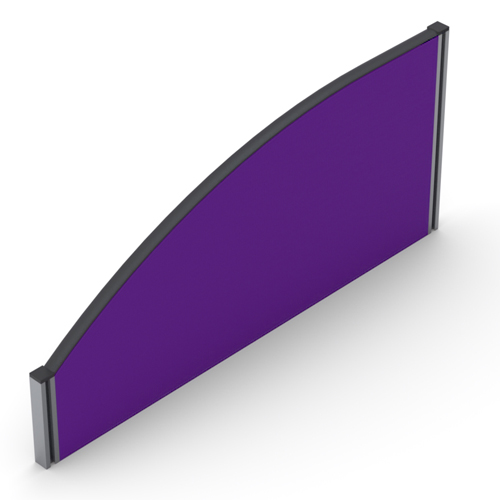 480mm High Curve top Desk Mounted Screen