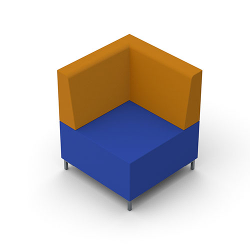 Corner with Back, Metal Legs (IS9)