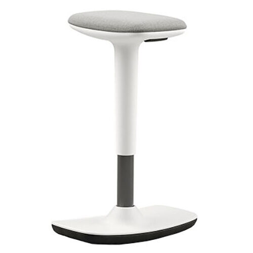 Upholstered Stool with White Shell (HM2)