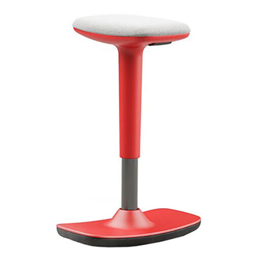 Upholstered Stool with Red Shell (HM3)