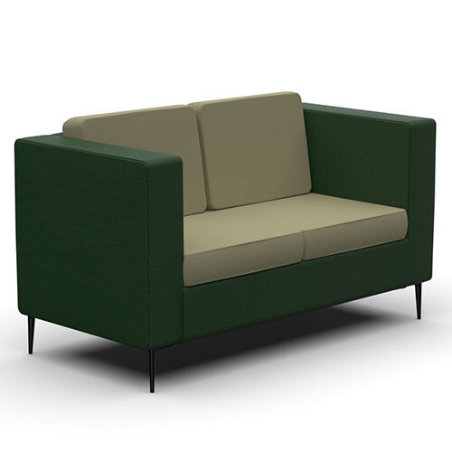 Two Seater Sofa, Metal Legs (HW2)