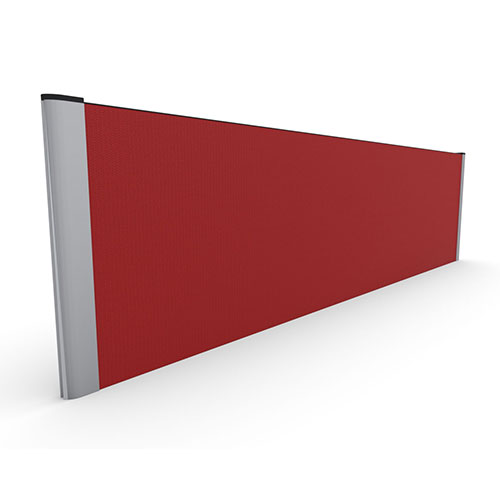 480mm High Straight top Desk Mounted Screen