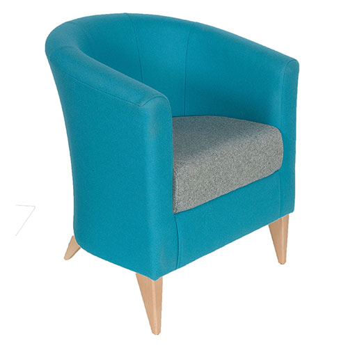Tub Chair on wooden legs (OR4)