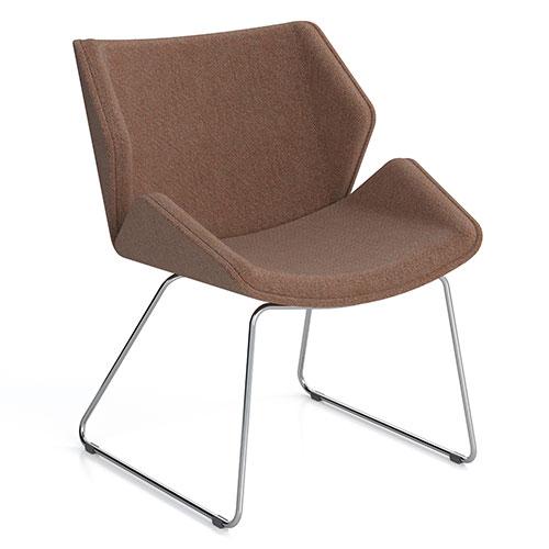 Low Back, Skid Base, fully upholstered (SK1)