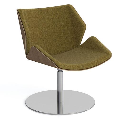 Low Back, Round Flat Base, fully upholstered (SK3)