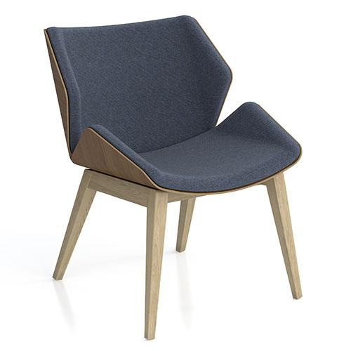 Low Back, Wooden 4 Leg Base, fully upholstered (SK4)