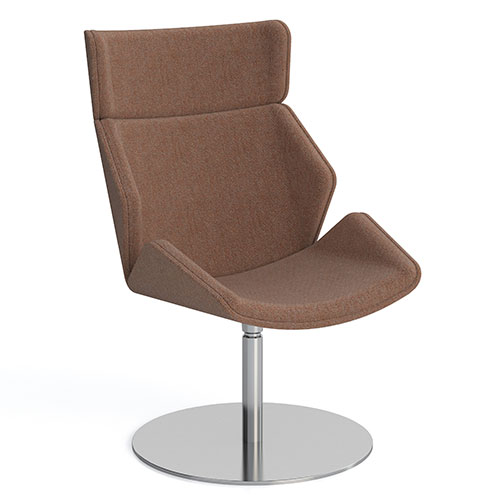 High Back, Round Flat Base, fully upholstered (SK7)