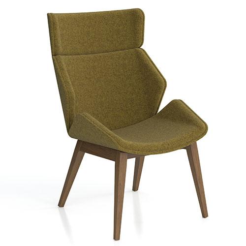 High Back, 4 Leg Wooden Base, fully upholstered (SK8)