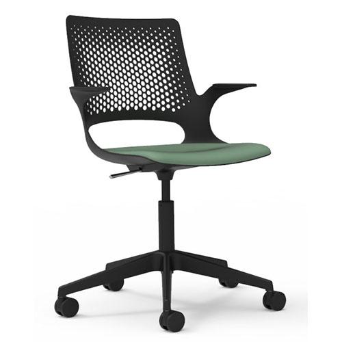 Black Shell, Upholstered Seat (SOL1)