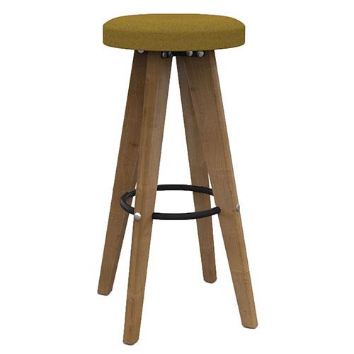 High Stool, 4 Wooden Legs (WDES2)