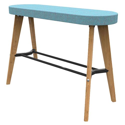 High Bench, 4 Wooden Legs (WDES4)