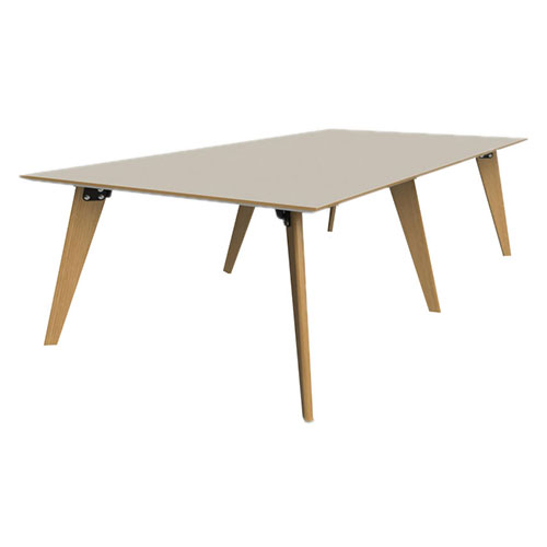 1600mm x 3200mm, 6 Leg Table with 2 piece top (WDET4)