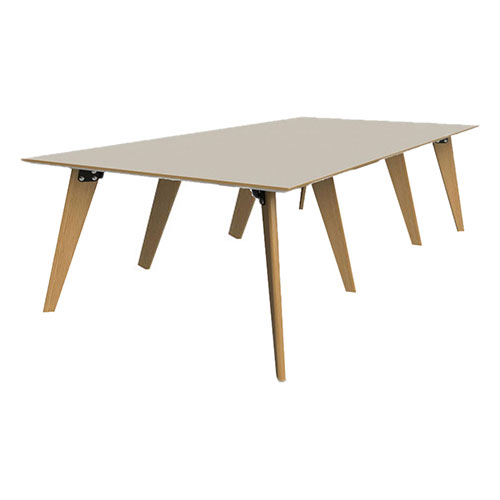 1600mm x 4800mm, 8 Leg Table with 3 piece top (WDET5)