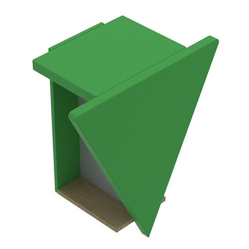 2 User Phone Booth, Triangular Front (YCK1)
