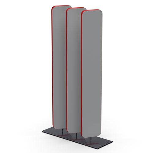 3 Rotating Panels on Steel Base (SOL1)