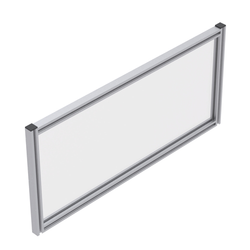 480mm High Framed Straight top Desk Mounted Screen