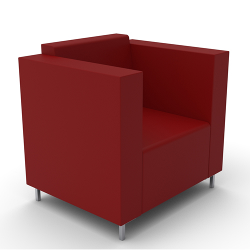Armchair, Metal Legs (BE1)