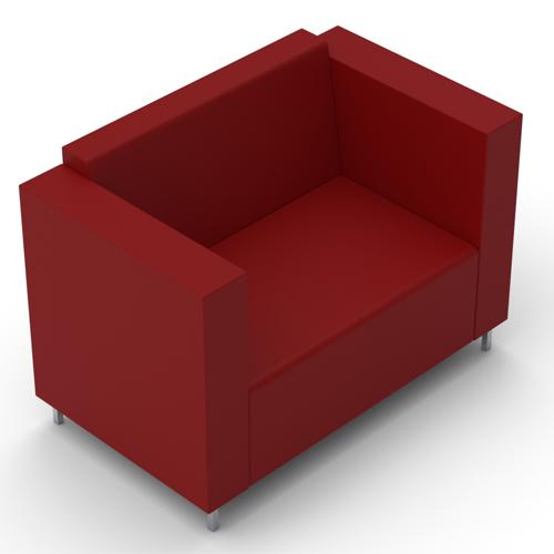 Two Seater Sofa, Metal Legs (BE2)