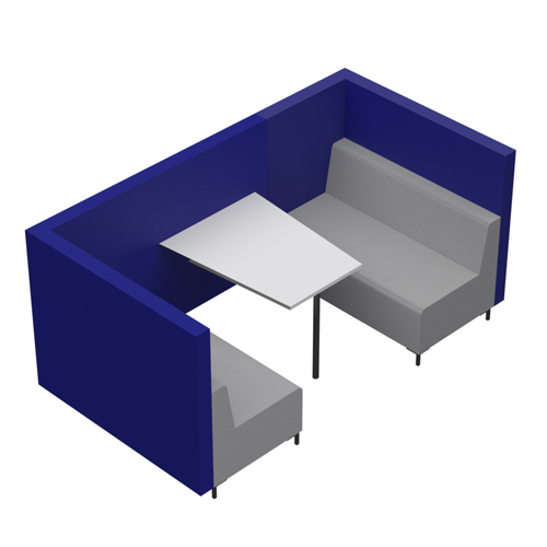 Four Person Booth, Open End (CO6OE)