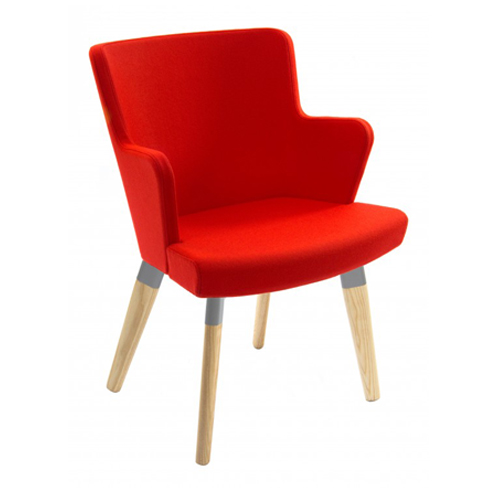 Fully Upholstered, Wooden Legs with Arms (FL1/A)