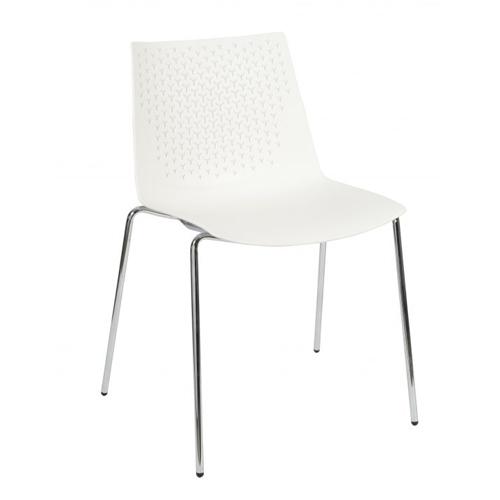 White, 4 Leg Chrome (FX4)