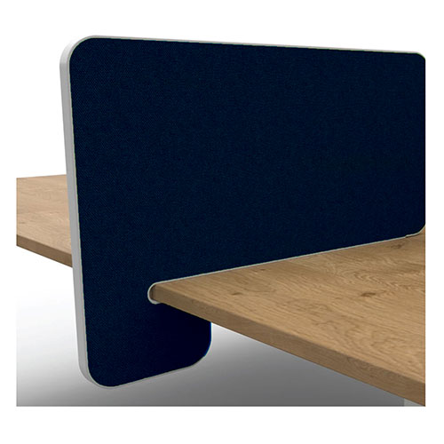 Wedge Desk Mounted Screen - 490mm High (350mm above Desk)